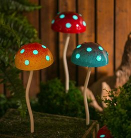 Glow in the Dark Mushroom Stake - Yellow