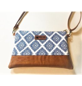 Bear Den Handmade Crossbody Retriever - Blue Diamonds