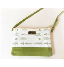 Bear Den Handmade Crossbody Retriever - Green Arrows