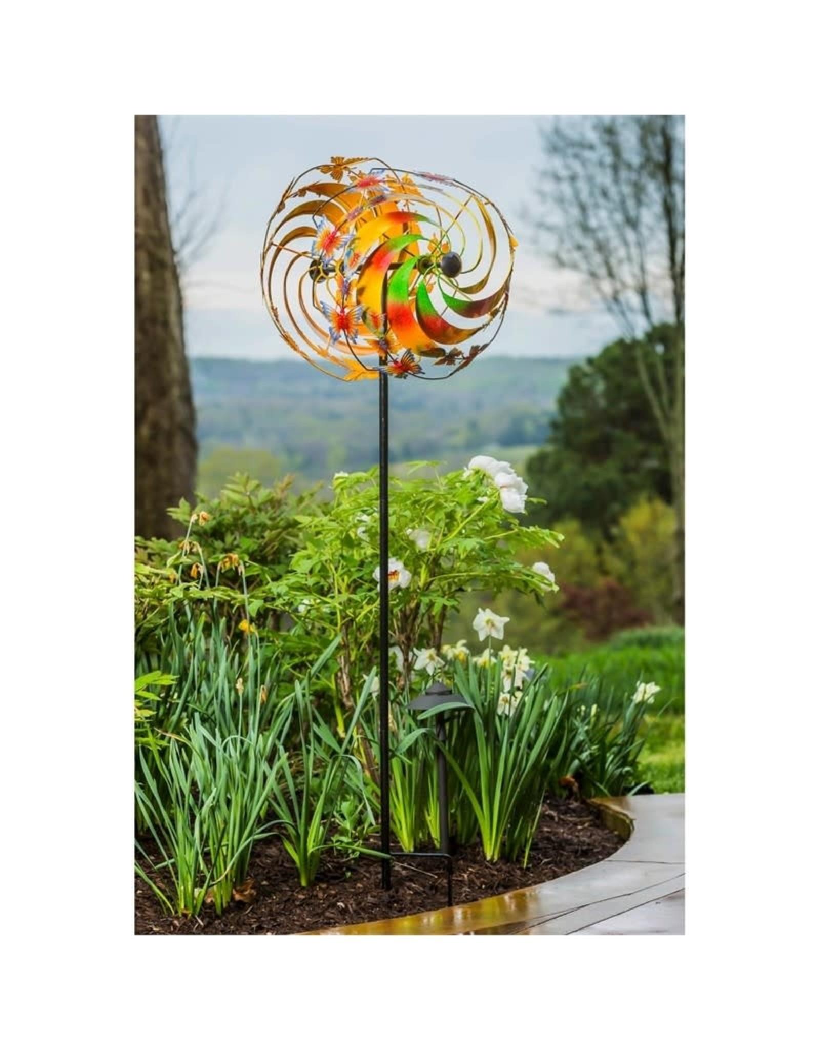 Kinetic Wind Spinner Stake - Butterfly Swirl