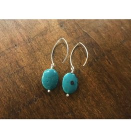 Drop Earrings - Leland Blue Oval Lt Blue