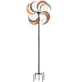 Verdigris Swirls Spinner Stake