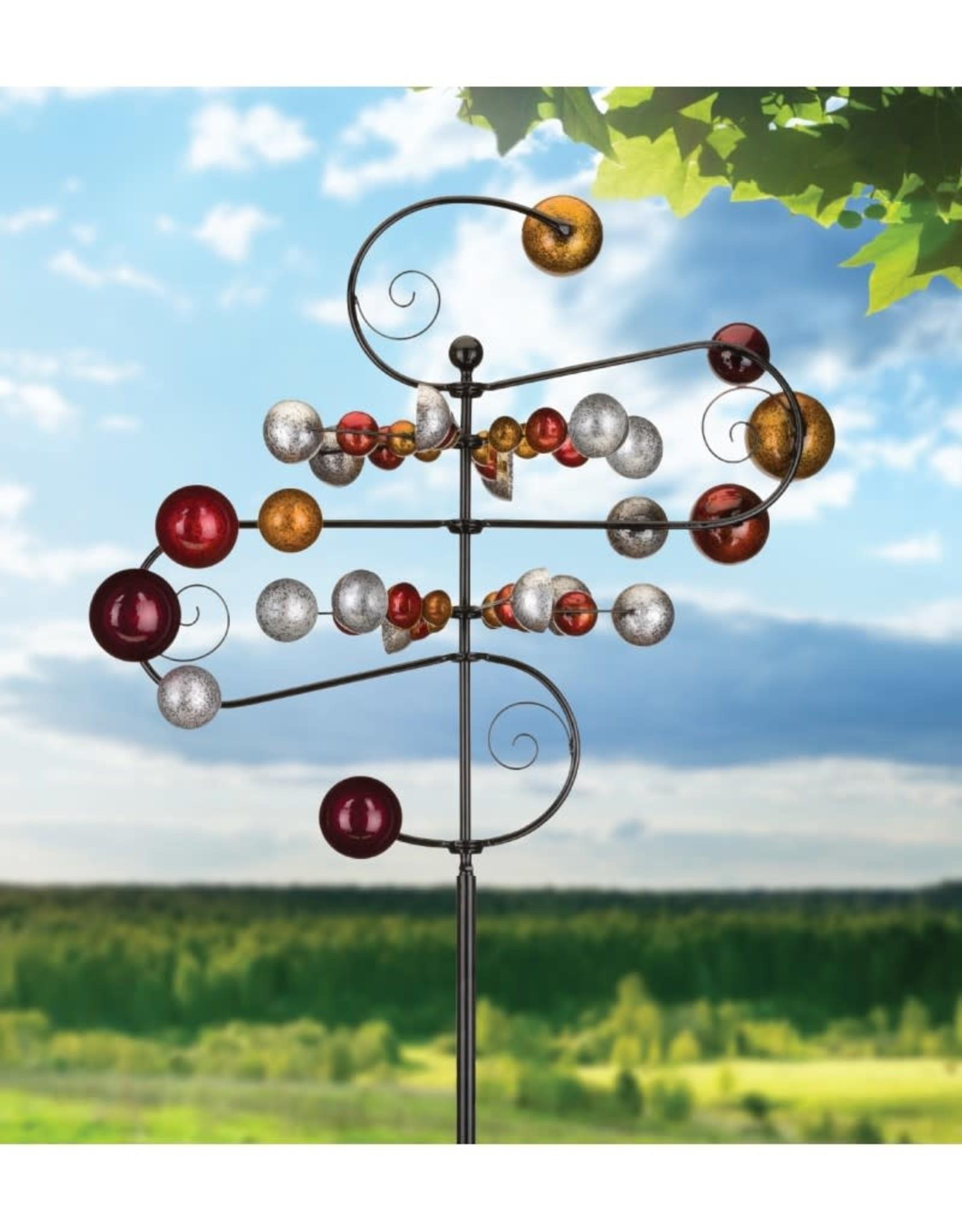 Kinetic Wind Spinner Stake - Stellar Cups & Swirls