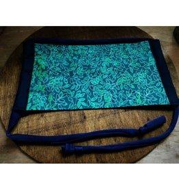Bear Den Handmade Cotton Mask - Green & Blue Vines