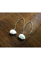Dangle Earrings - Pearl Bear