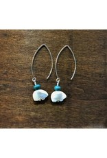 Dangle Earrings - Leland Blue & Pearl Bear