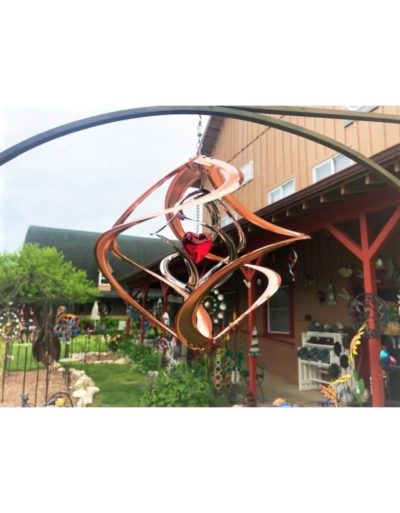 Bear Den Helix Hanging Helix - 14 inch Copper & Red Heart