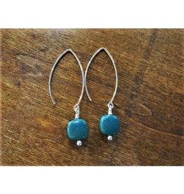 Dangle Earrings - Leland Blue Square
