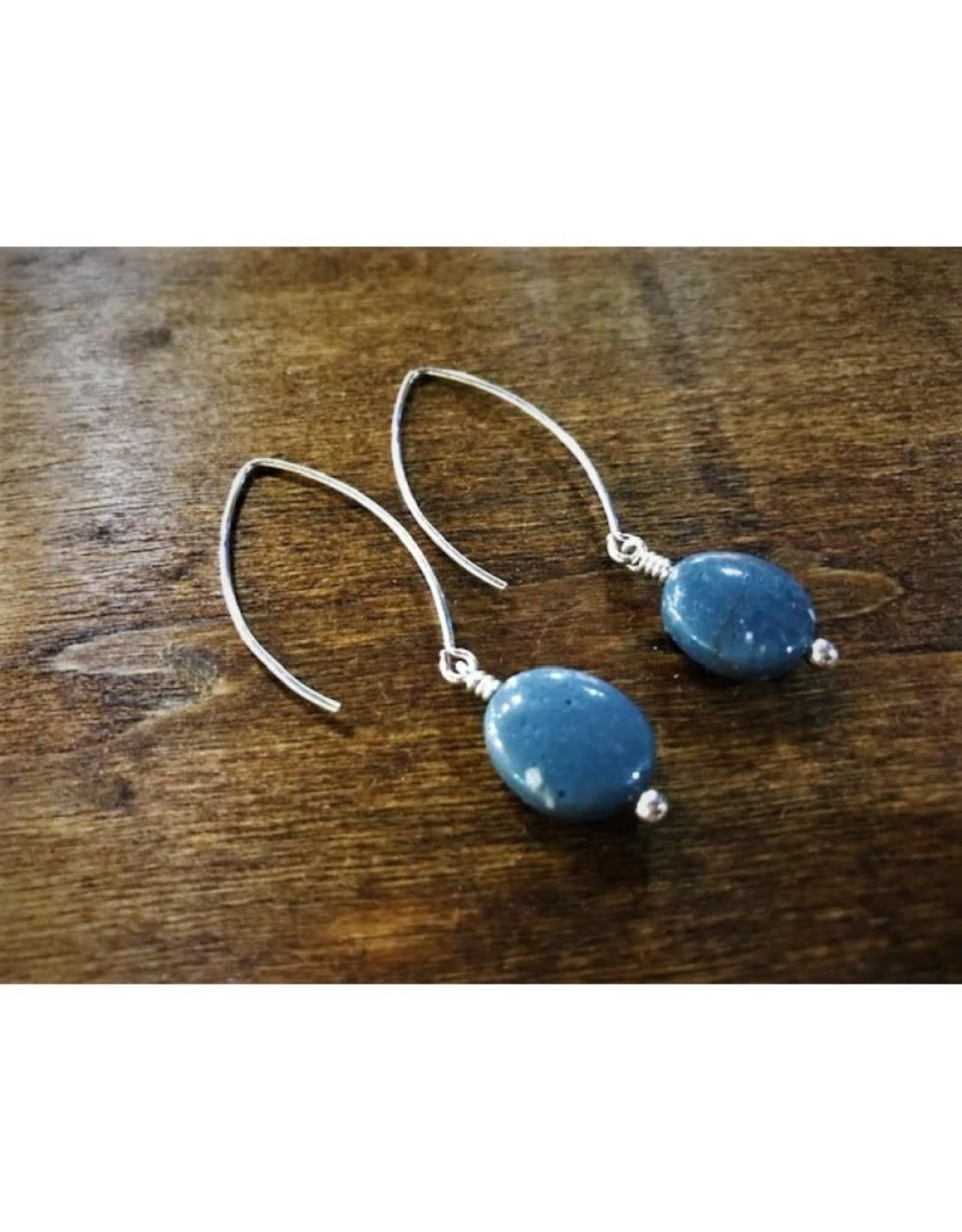 Dangle Earrings - Leland Blue Oval