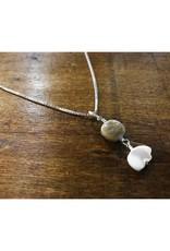 Bear Pendant - Pearl & Petoskey Stone