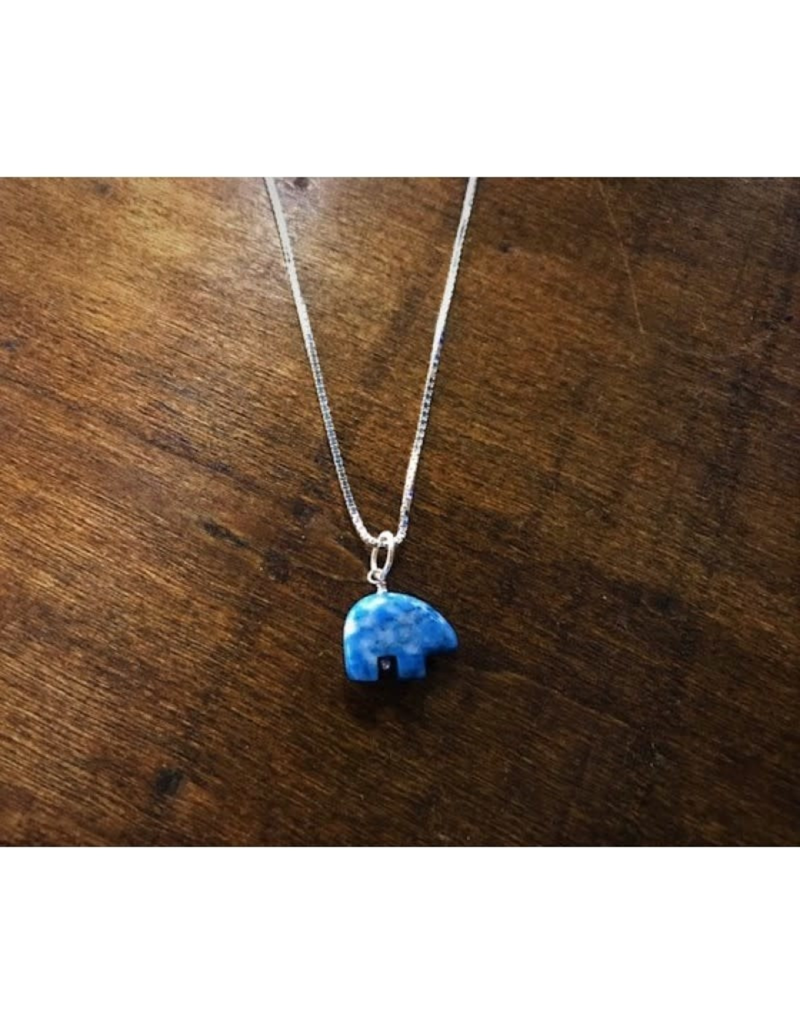 Bear Pendant - Denim Lapis