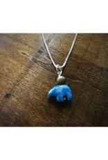 Bear Pendant - Denim Lapis & Petoskey Stone