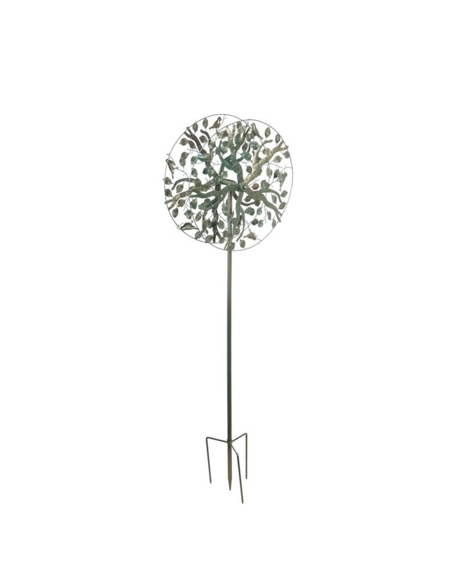 Verdigris Tree of Life Spinner Stake