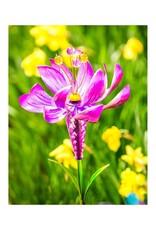 Lotus Flower Spinner Stake - Pink