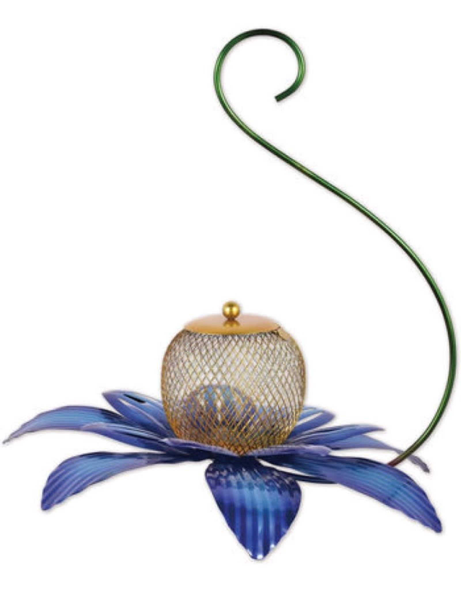 Bird Feeder - Blue Flower