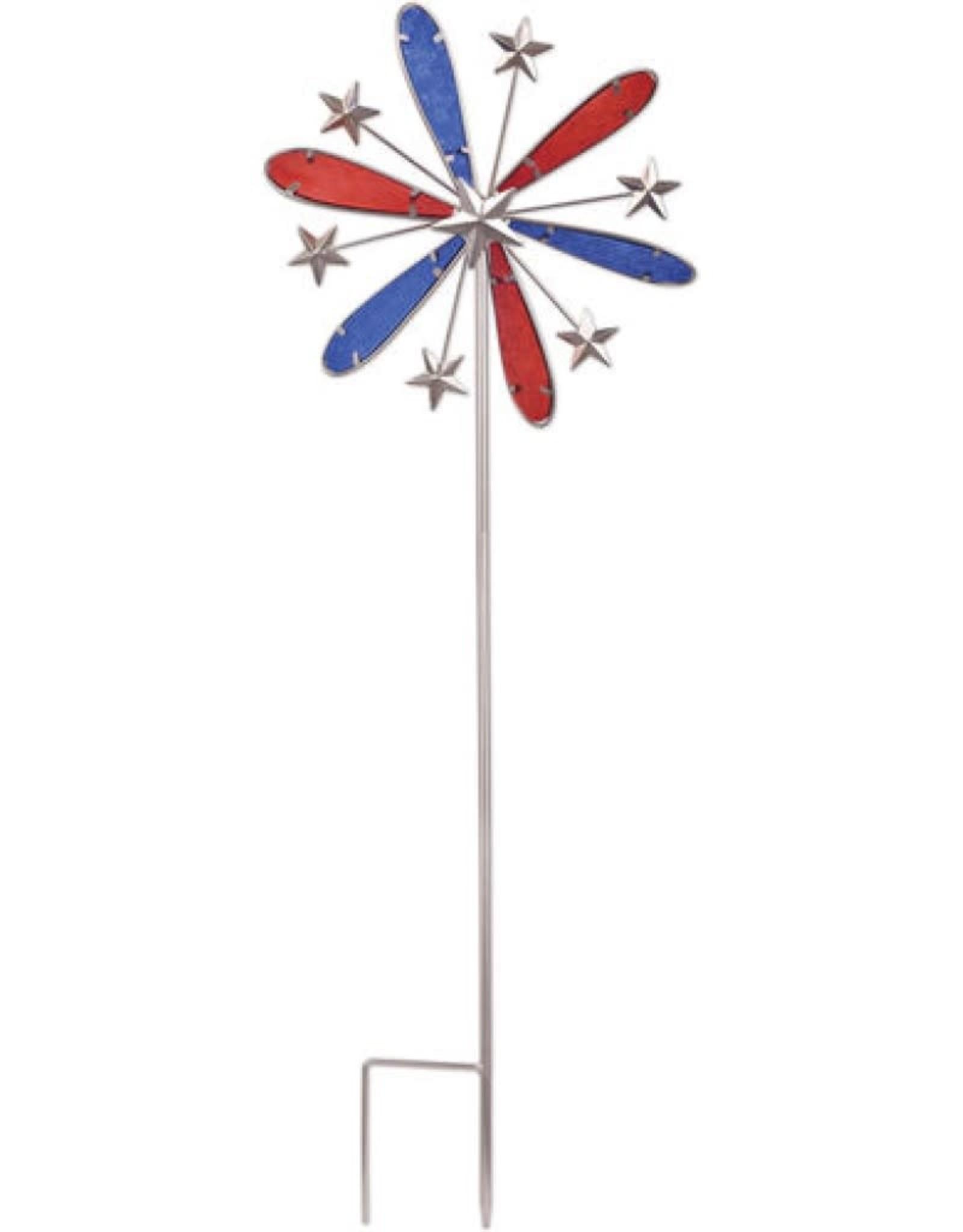 Red, White, & Blue Pinwheel Spinner Stake