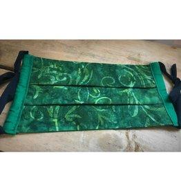 Bear Den Handmade Cotton Mask - Green Batik