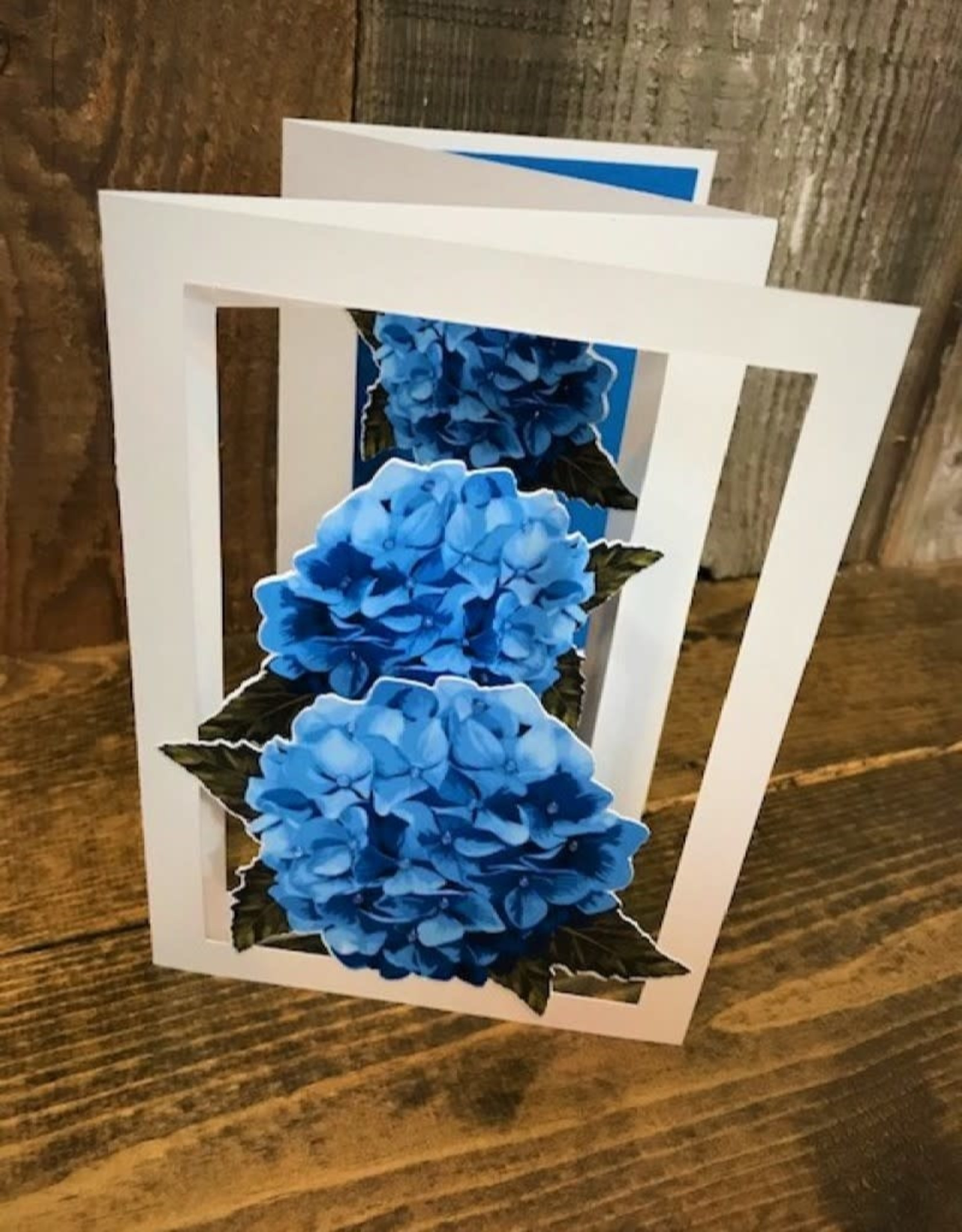 More Than A Card By Chris Garden Card - Hydrangea