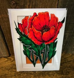 More Than A Card By Chris Garden Card - Red Poppy