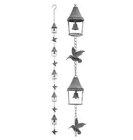 Hummingbirds & Bells Rain Chain