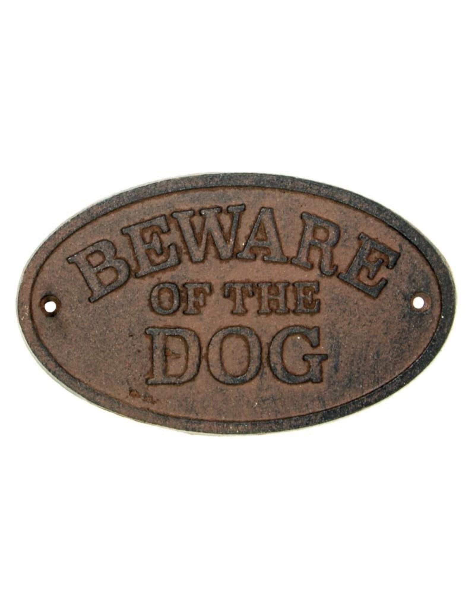 Beware of Dog Cast Iron Sign
