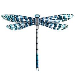 Metal Wall Dragonfly - Blue