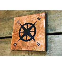 Copper Coaster - Compass