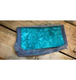 Bear Den Handmade Cotton Mask - Turquoise Splash