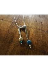 Ribbon Pendant - Petoskey Stone & Leland Blue