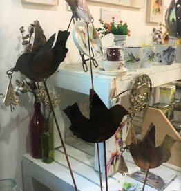 Metal Stake - Doves & Bells