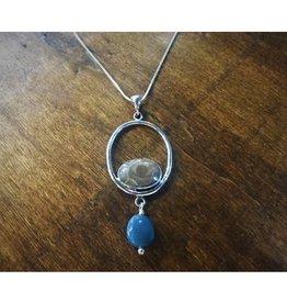 Circle Pendant - Petoskey & Leland Blue