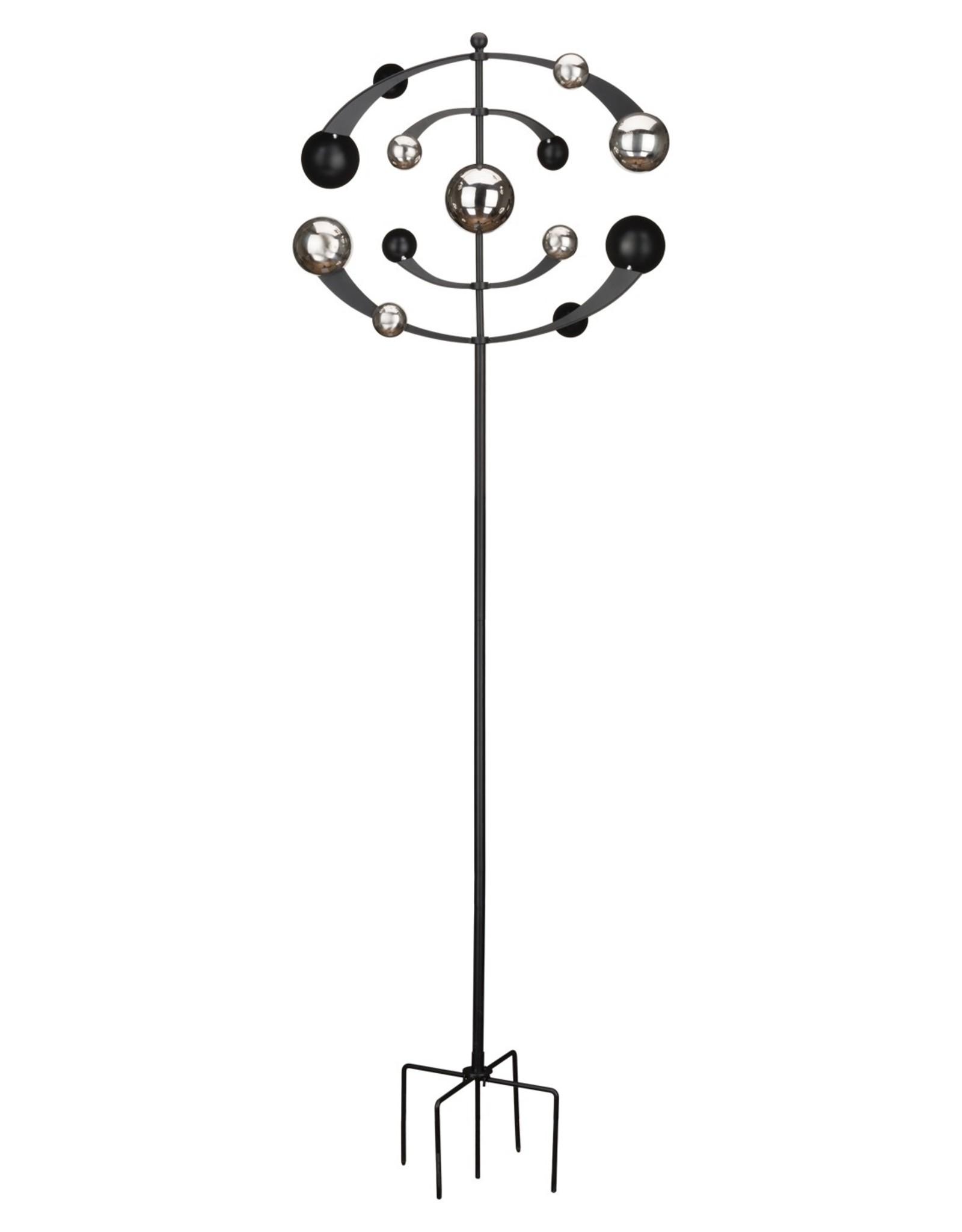 Black & Silver Orbit Spinner Stake