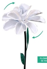 Kinetic Rose Stake - White