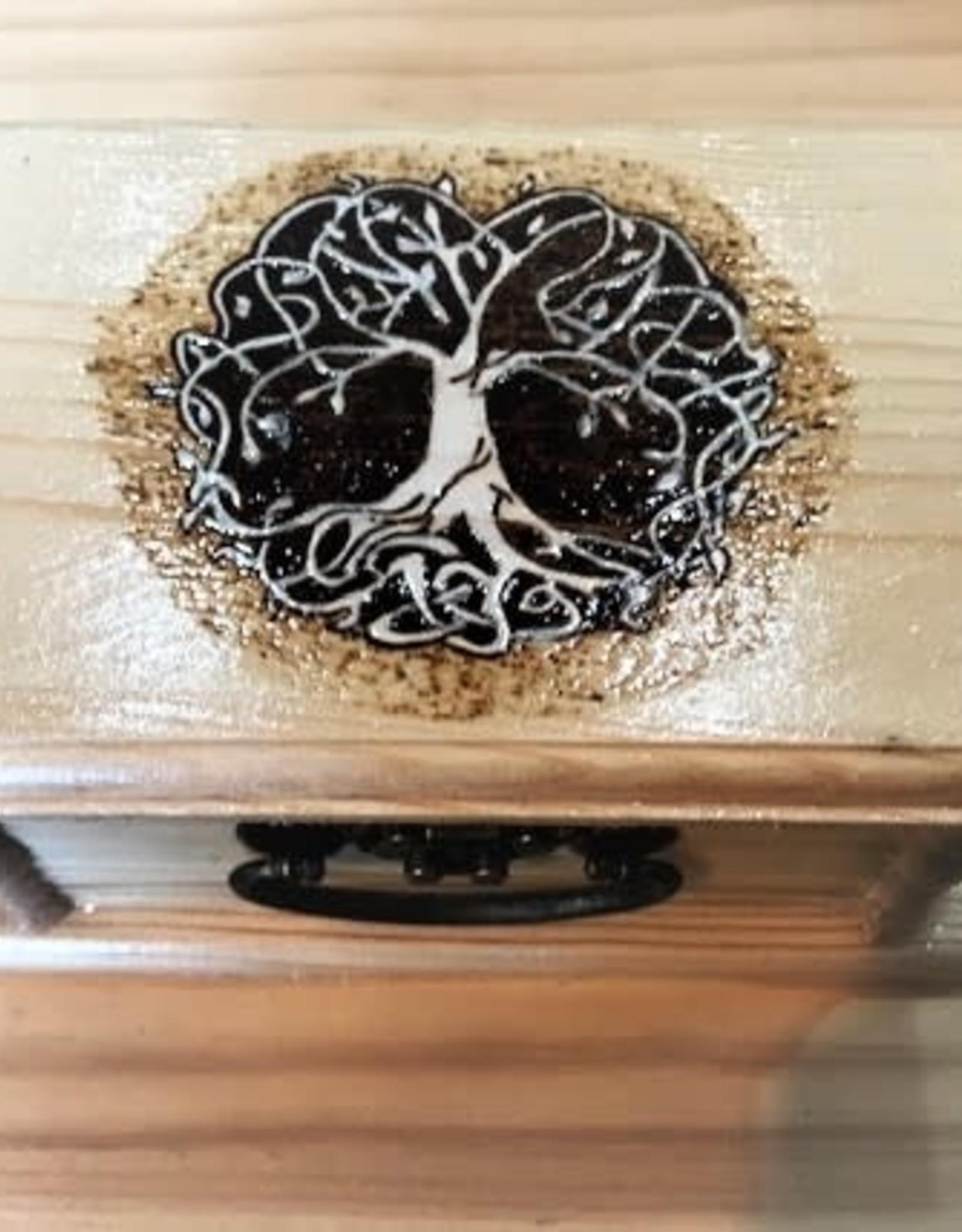 CraftCesi Handmade Wooden Jewelry Box - Tree of Life