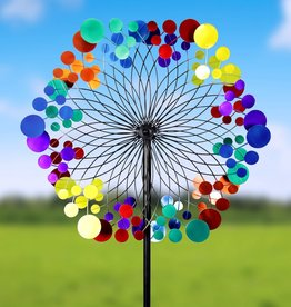Colorful Circles Kinetic Spinner Stake