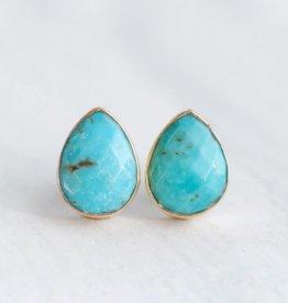 Stud Earrings - Turquoise/Silver