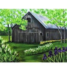 "Nanglow Fine Art ""Summer at the Barn"" Framed 30 x 24"