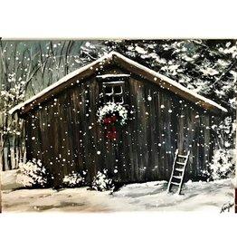"Nanglow Fine Art ""Snowy Wreath"" 24 x 18"