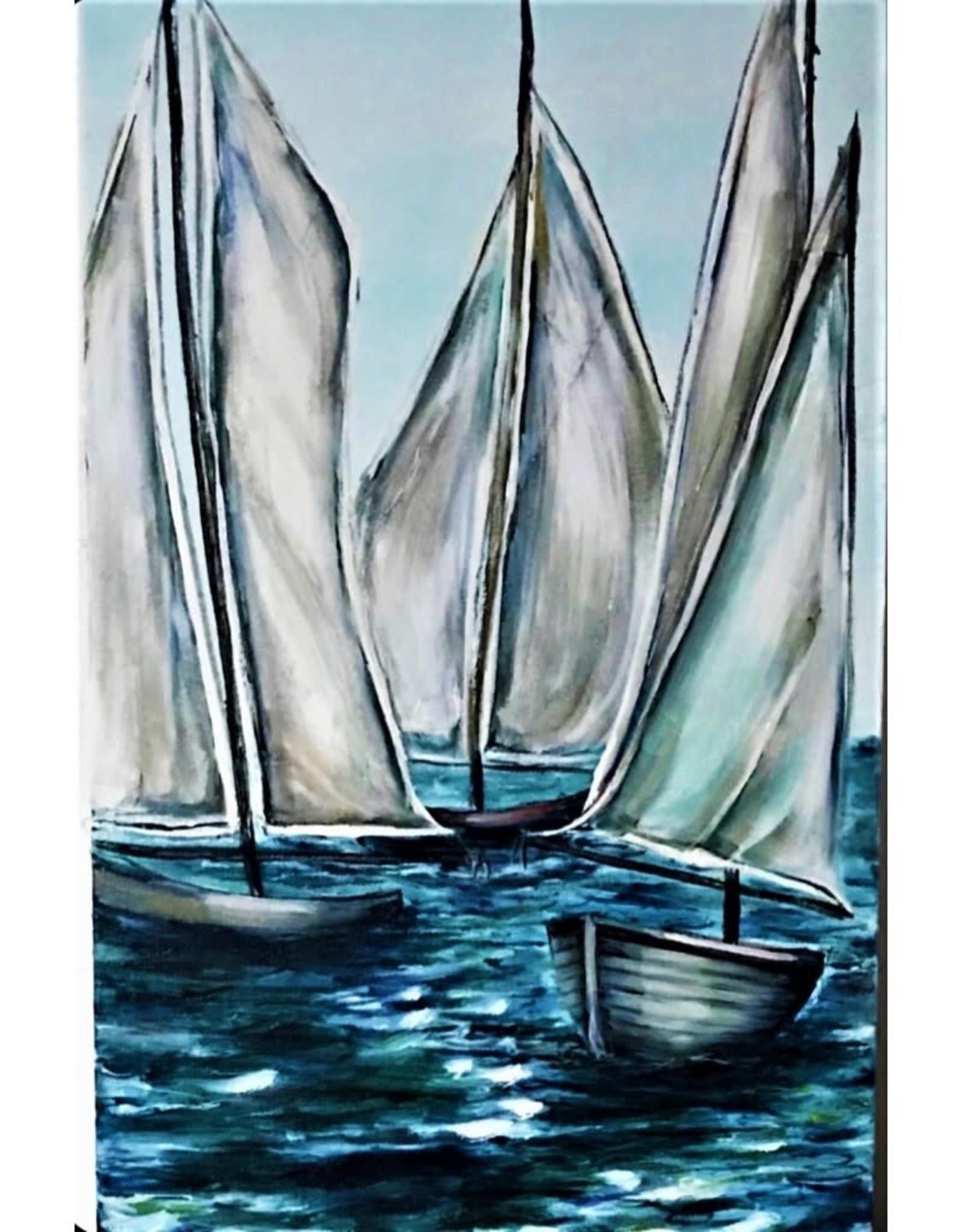 """Nanglow Fine Art """"Come Sail Away"""" 12 x 24"""