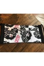 Bear Den Handmade Cotton Mask - Kiss on Black & White