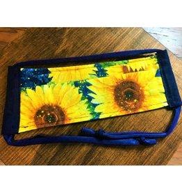 Bear Den Handmade Cotton Mask - Sunflowers on Blue