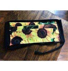 Bear Den Handmade Cotton Mask - Sunflowers on Black