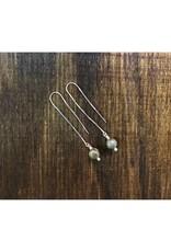 Thread Through Earrings - Petoskey Round