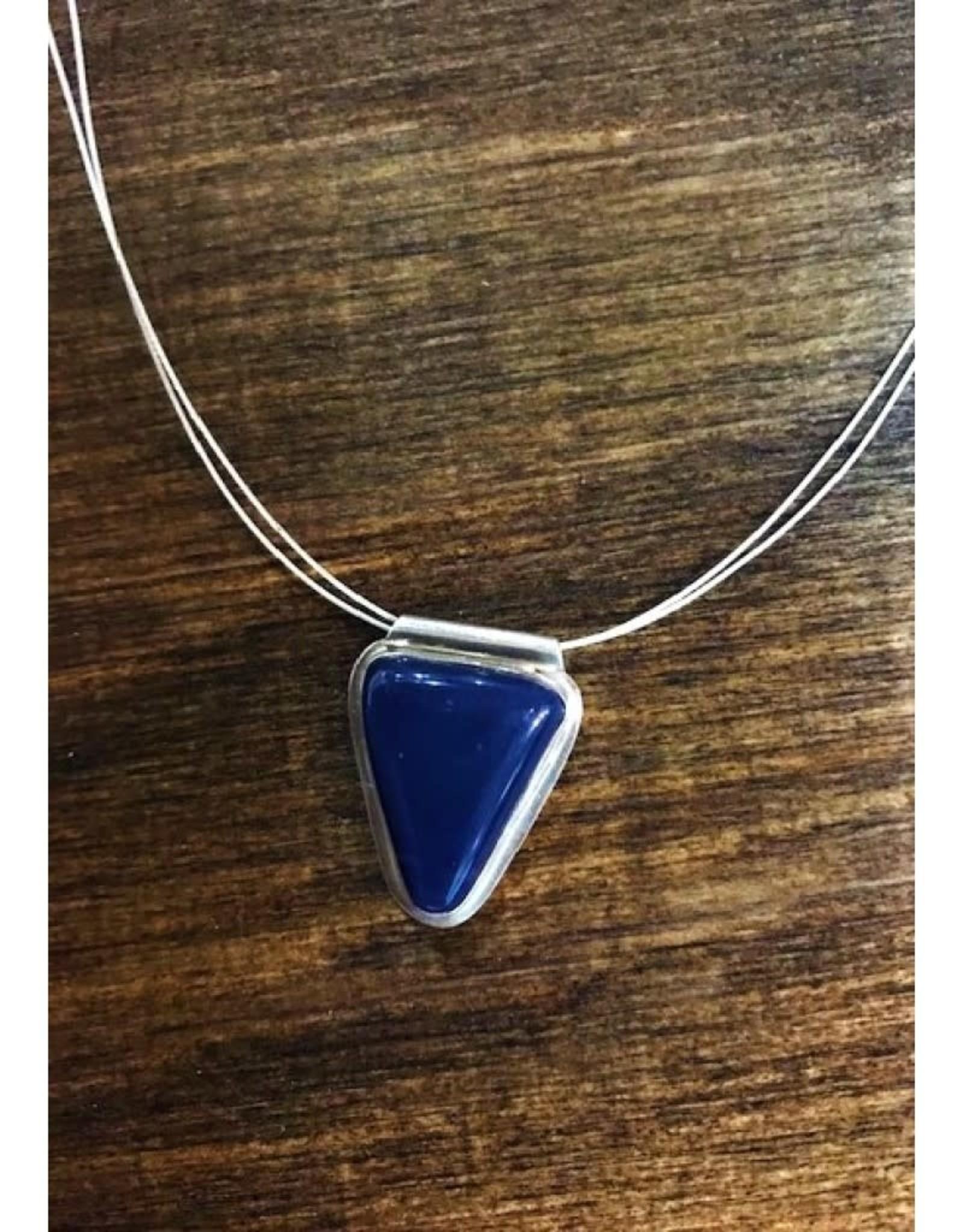Necklace - Leland Blue Triangle Cabochon 18''