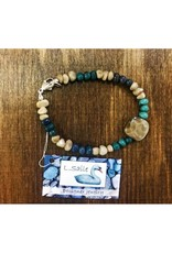 Bracelet - Petoskey Stone & Leland Blue