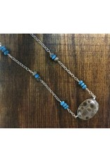 Necklace - Petoskey Pendant & Leland Blue 18''