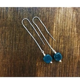 Thread Through Earrings - Leland Blue