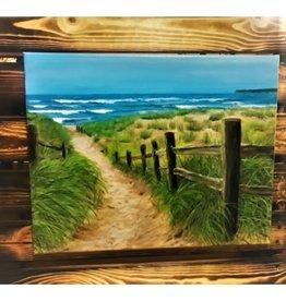 """""""Solitude - Good Harbor Beach"""" 20 x 15.75 Ron Wetzel Original"""