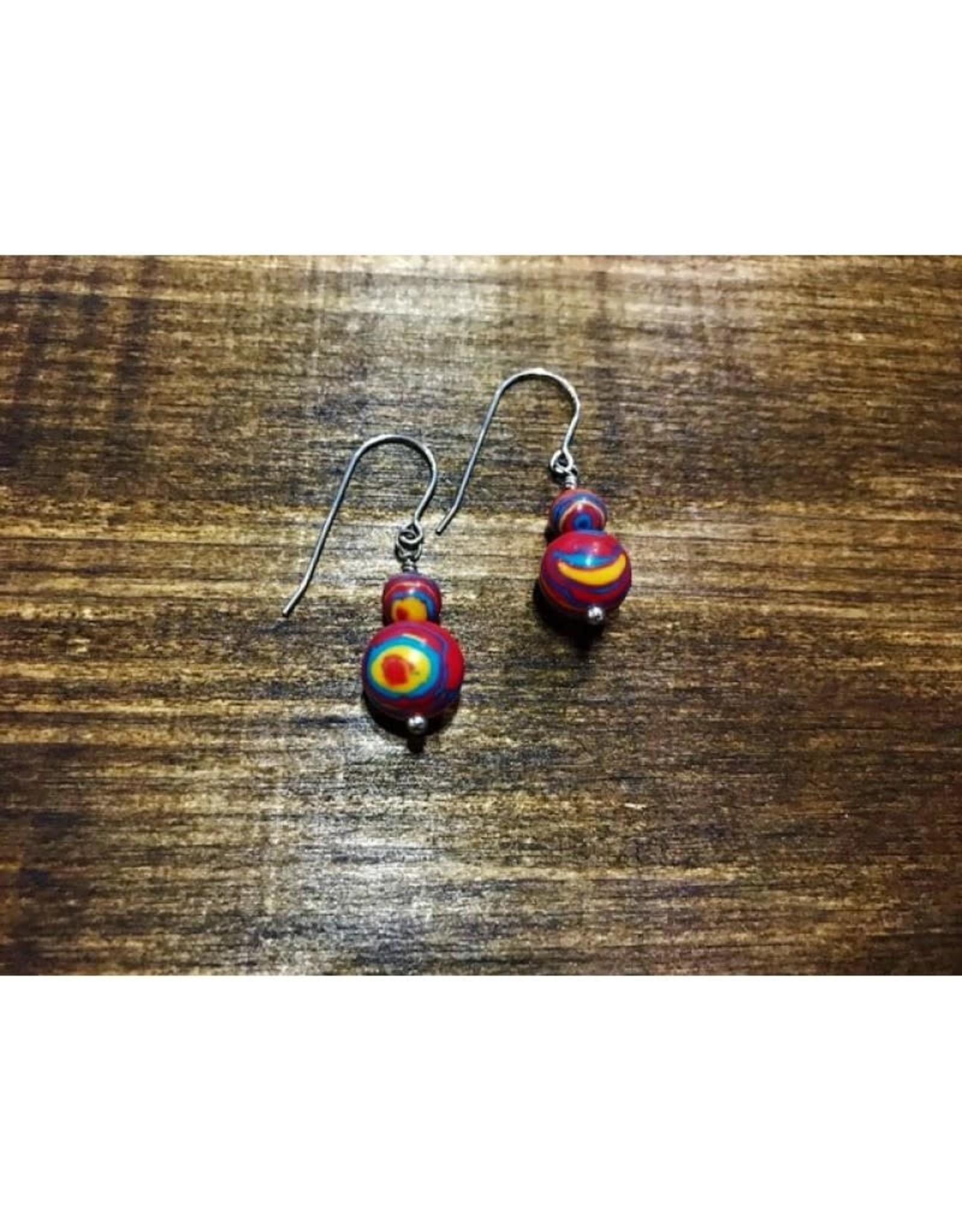 French Hook Earrings - YRB Fordite