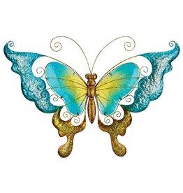 28 Inch Wall Art Butterfly - Blue